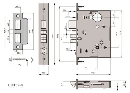 ANSI/BHMA A156.13 2012 SERIES 1000 Grade 1 standards for mortise lock and latches.