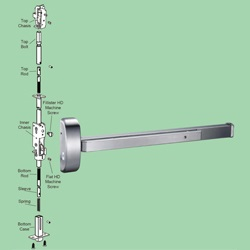 Concealed Vertical Rod Exit Device